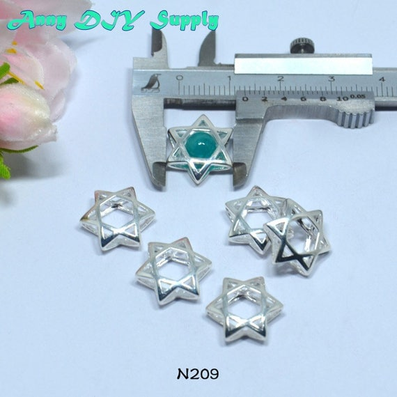 Star of David S925 Sterling Silver Jewelry Findings ...