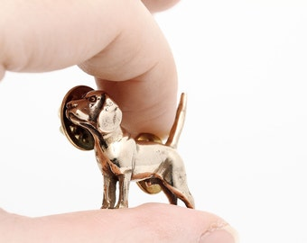Vakkancs Beagle pin (solid bronze)