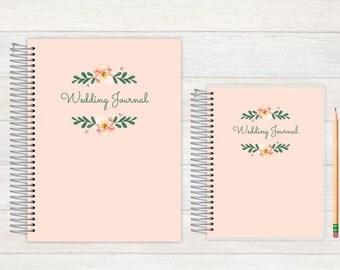 Wedding Journal, Wedding notebook, custom Wedding journal, Personalized Bridal journal, Personalized journal, floral simplicity