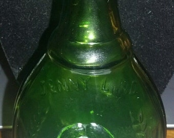 "Wheaton 5 1/2"" Bottle The Swedish Nightingale  Green Jenny Lind"