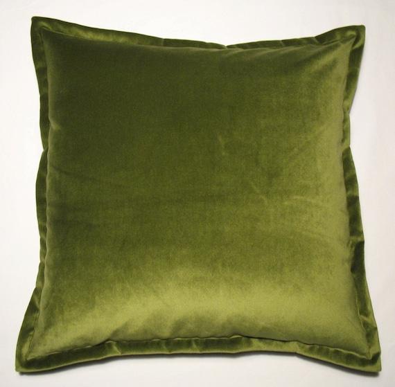 ONE UNIT Spring Moss Plush Velvet Throw Pillow Cover 22x