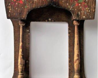Old Handmade Wooden iconostasis, Vintage Home iconostasis, Antique Orthodox icnostasis, Wall hanging iconostasis, Religious item,