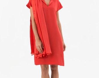 Silk Dress - crepe silk chloe dress