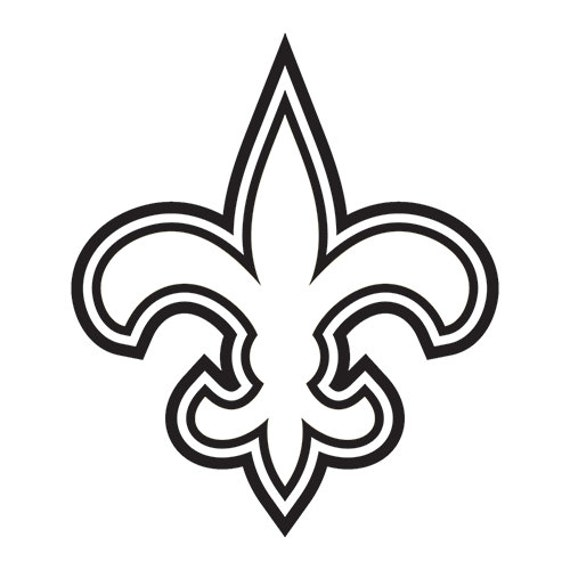 Vinyl Decal Sticker - New Orleans Saints Decal for Windows, Cars, Laptops, Macbook, Yeti, Coolers, Mugs etc