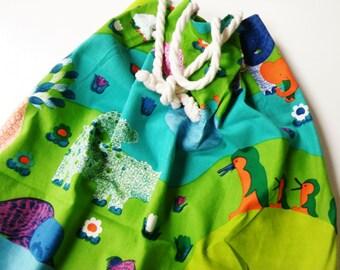 70s SpielSack XxL Graziela era design VinTage children bag fabric