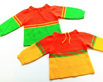 2 VinTage baby shirts size 3-6 m sweater of oldschoOl shirt retro