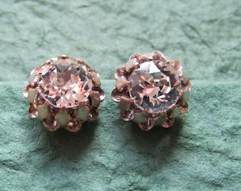 Large diamante clip on earrings