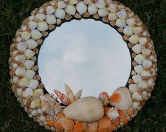 "Seashell Mirror ~ ""SPI Sunset"""