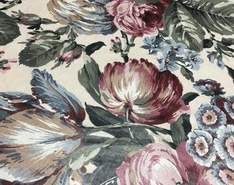 "Vintage 1989 Covington 5th Avenue Tea Rose Fabric - 54"" wide"
