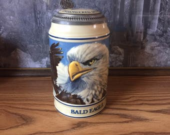 SALE 1989 Collectible Budweiser Endangered Species Eagle Stein