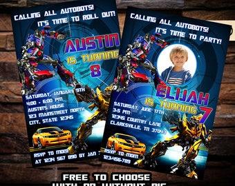 Transformer Invitation / Transformer Birthday Invitation / Transformer Party Invitation / Transformer / Invitation / Birthday Invitation NR