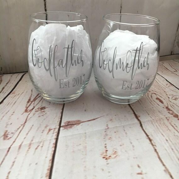 Godmother Wedding Gift: Gift Ideas For Godparents Godparents Wine Glasses