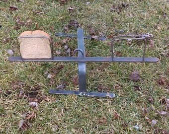 Primitive toaster campfire toaster hand forged. Camping