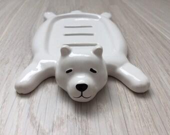 Polar Bear Rug Soap Dish