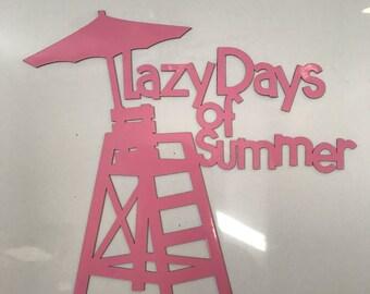 Lazy Days Magnet