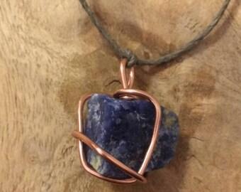Wire wrapped Lapis Lazuli