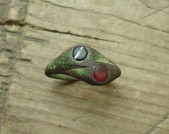 Ancient late Medieval 16th-17th Century AD bronze Ring / Approx. US & Canadian size 10 | British and Australian T 1/2 or U | French 62 3/4