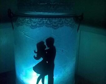 In Love Glass Lantern