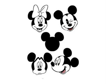 Mickey Mouse SVG File , Logo files by layers - Make Your Own Print Cut Crafts, Shirts, Wall Art, Vinyl Decals,ECT