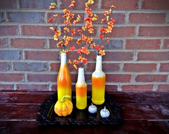 Candy Corn Ombre Bottles - Set #2