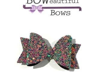 Hair bows Small chunky glitter