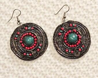 Boho, Ethno earrings. original design earrings.