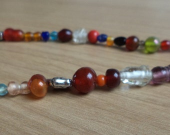 Colorful glass Pearl Necklace