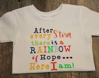 Preemie, Newborn and Toddler ... After Every Storm There Is A Rainbow
