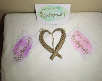 Will you be my bridesmaid? (purple)