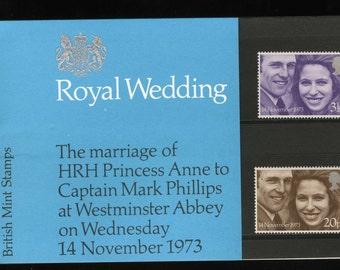 Royal Wedding Stamps - 1973