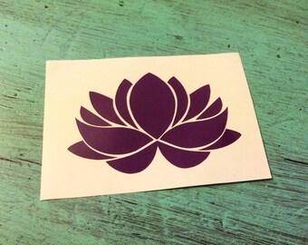 Lotus Flower Vinyl Decal - Yoga Decal - Vinyl Decal
