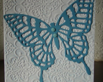 Filigree blue butterfly