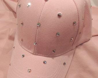 Hat Swarovski Crystal Big Bling Ball Cap
