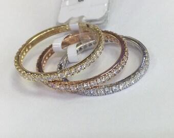 14k white gold diamond 3/4 eternity band
