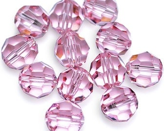 Swarovski Crystal Round Light Rose Beads 5000- Available in 6mm, 8mm