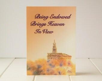 LDS Temple Card - Endowment