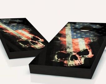 American Skull Cornhole Set