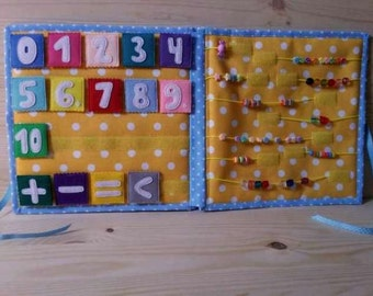 Number felt, Table numbers, educational toy, math for kids, Baby Game