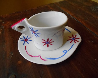 Coffee set for single-floral pattern
