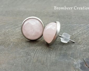 Earrings Rose Quartz, Rose Quartz earrings, Rose Quartz, earrings gemstone, earrings semiprecious stones, gift, earring pink