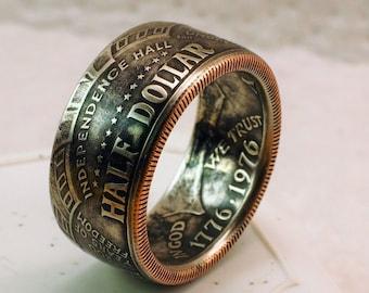 American Half Dollar Coin Ring