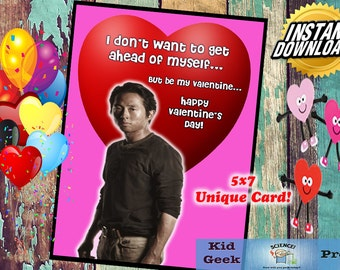 TWD The Walking Dead Glenn Valentineu0027s Day Card!