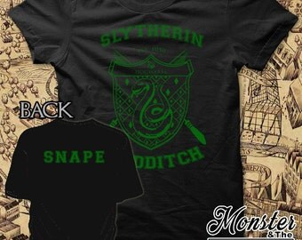 Slytherin Personalized House Quidditch Ringspun T-Shirt