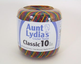 Mexicana variegated - Aunt Lydia's Crochet Cotton Classic Size 10