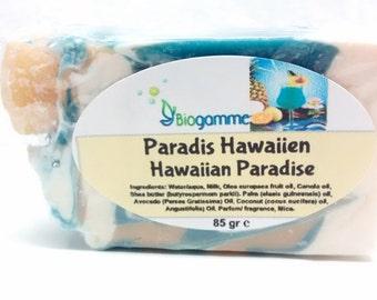 Vegan Soap Hawaiian Paradise / fat on soap / vegan / handmade / shea butter / natural / +/- 85 gr
