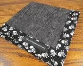 One Off EDC Hank Skull and Crossbones Handmade Hank Everyday Carry Pocket Dump Hank Mens Handkerchief Gift for Him