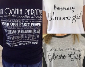 Gilmore Girls Shirt Bundle! Cute and cozy shirts from the show Gilmore Girls - FREE SHIPPING