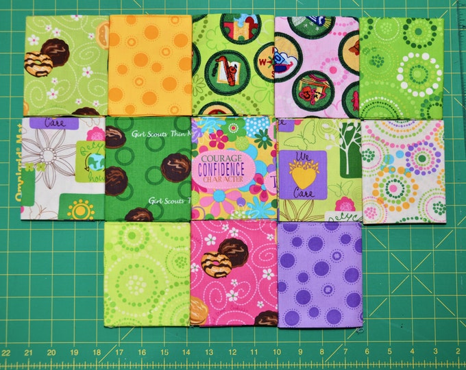 Robert Kaufman Girl Scout Fabric -  Basic Colorstory Friendship Quilt FQ BUNDLE 2 - 100% Kona Cotton - FQ-299-13