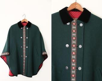 1960's Wool Cloak/Cape by Nohstadt & Co. Klagenfurt from Austria