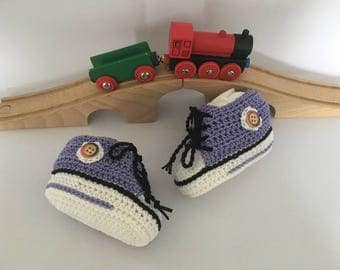 Baby sneakers, booties, crochet baby shoes, baby shoes